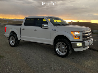 """2015 Ford F-150 - 22x10 -25.4mm - American Force Lift SS - Suspension Lift 2.5"""" - 33"""" x 12.5"""""""