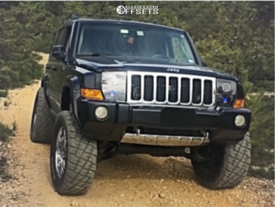 "2006 Jeep Commander - 20x9 20mm - ECO 802 Taz - Suspension Lift 6"" - 35"" x 12.5"""