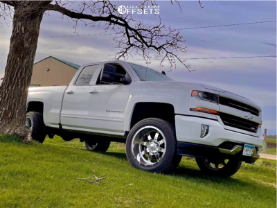 2016 Chevrolet 1500 - 20x12 -44mm - Gear Off-Road Big Block - Leveling Kit - 305/11.5R20