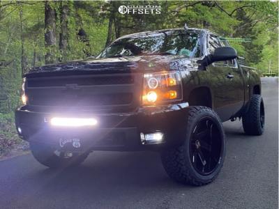 "2011 Chevrolet Silverado 1500 - 22x12 -51mm - ARKON OFF-ROAD Lincoln - Suspension Lift 3.5"" - 33"" x 12.5"""