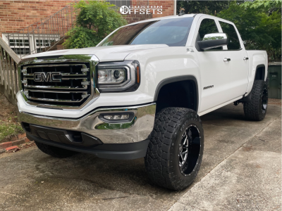 "2018 GMC Sierra 1500 - 20x12 -44mm - Hostile Sprocket H108 - Suspension Lift 6"" - 35"" x 12.5"""