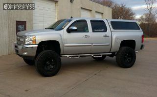 """2013 Chevrolet Silverado 1500 - 20x10 -24mm - Tuff T06 - Lifted >9"""" - 37"""" x 12.5"""""""