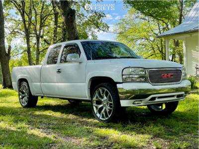 2002 GMC Sierra 1500 - 24x10 31mm - Factory Reproductions Fr44 - Stock Suspension - 285/40R24