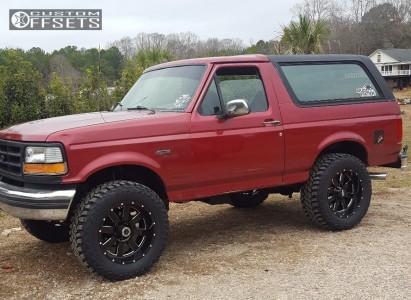 """1994 Ford Bronco - 20x10 -24mm - Moto Metal MO962 - Suspension Lift 4"""" - 35"""" x 12.5"""""""