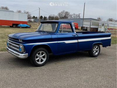 1966 Chevrolet C10 Pickup - 17x8 19mm - Vision Legend 6 - Stock Suspension - 255/70R17