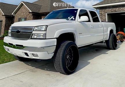 "2007 Chevrolet Silverado 2500 HD Classic - 24x14 -81mm - ARKON OFF-ROAD Caesar - Suspension Lift 3"" - 305/35R24"