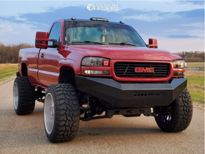 "2002 GMC Sierra 2500 HD - 24x14 72mm - American Force Octane Ss - Suspension Lift 6"" - 37"" x 13.5"""