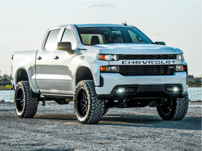 "2020 Chevrolet Silverado 1500 - 22x10 -25mm - Moto Metal Mo985 - Suspension Lift 6"" - 35"" x 12.5"""