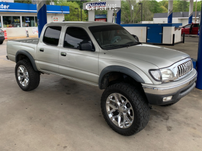 """2003 Toyota Tacoma - 22x10.5 0mm - Reps New Style Flakes - Suspension Lift 6"""" - 35"""" x 12.5"""""""