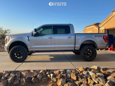 """2021 Ford F-150 - 20x9 0mm - Anthem Off-Road Rogue - Suspension Lift 6"""" - 35"""" x 12.5"""""""