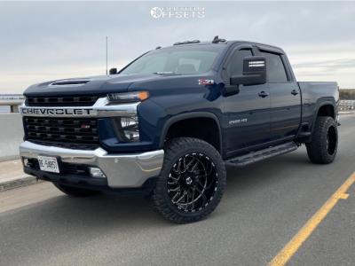 "2020 Chevrolet Silverado 2500 HD - 22x12 -44mm - TIS 544bm - Leveling Kit - 35"" x 12.5"""