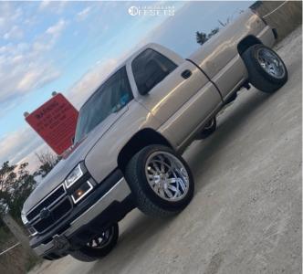 """2006 Chevrolet Silverado 1500 - 22x12 -12mm - RBP 74r - Leveling Kit - 33"""" x 12.5"""""""
