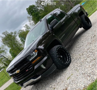 "2018 Chevrolet Silverado 1500 - 22x12 -44mm - Tis Forged 552B - Leveling Kit - 33"" x 12.5"""