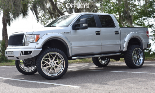 """2014 Ford F-150 - 26x12 0mm - Axe Offroad Nemesis - Suspension Lift 7"""" - 37"""" x 13.5"""""""