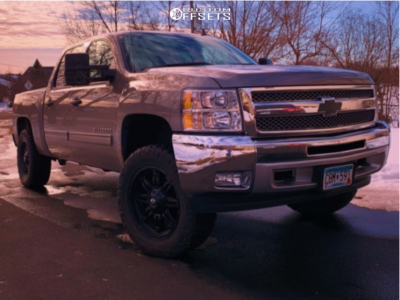 "2013 Chevrolet Silverado 1500 - 20x10.5 -18.05mm - Fuel Hostage D625 - Suspension Lift 4"" - 33"" x 11.5"""
