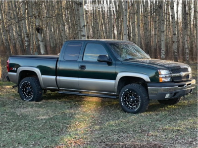 2003 Chevrolet Silverado 1500 - 16x8 0mm - Fuel Boost - Leveling Kit - 265/75R16