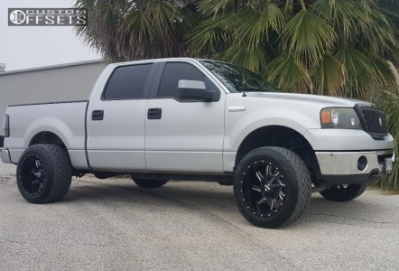 2008 Ford F-150 - 20x12 -44mm - Cali Offroad Twisted - Leveling Kit - 305/50R20
