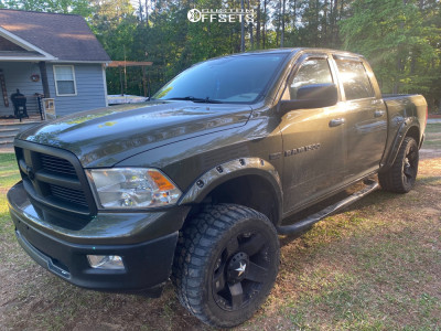 "2014 Ram 1500 - 20x10 -24mm - XD Xd775 - Suspension Lift 4"" - 33"" x 12.5"""