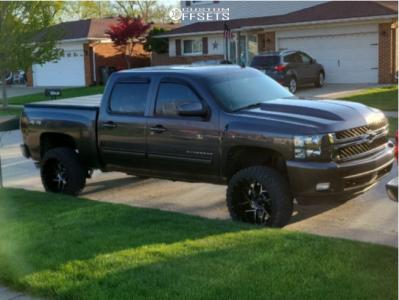 "2010 Chevrolet Silverado 1500 - 22x12 -51mm - Vision 360 - Suspension Lift 3.5"" - 33"" x 12.5"""