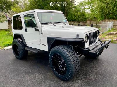 """1998 Jeep TJ - 20x14 -76mm - Fuel Maverick D610 - Suspension Lift 3.5"""" - 35"""" x 12.5"""""""