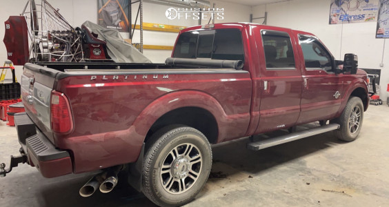 """2015 Ford F-250 Super Duty - 20x12 -44mm - American Offroad A105 - Leveling Kit - 35"""" x 12.5"""""""