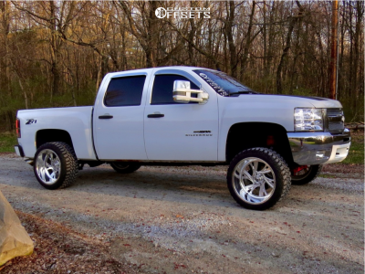 "2012 Chevrolet Silverado 1500 - 22x12 -51mm - Fuel Forged Ff41 - Suspension Lift 7.5"" - 33"" x 12.5"""