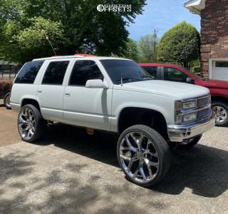 """1996 Chevrolet Tahoe - 26x10 -21mm - OE Replicas Flakes - Suspension Lift 6"""" - 305/30R26"""