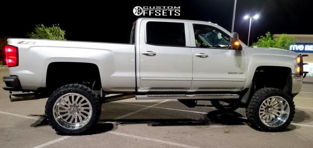 "2015 Chevrolet Silverado 2500 HD - 24x12 -40mm - American Force Octane Ss - Suspension Lift 12"" - 37"" x 13.5"""