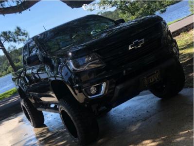 "2016 Chevrolet Colorado - 20x12 -44mm - American Offroad A106 - Suspension Lift 6"" - 33"" x 12.5"""