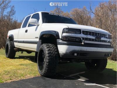 "1999 Chevrolet Silverado 1500 - 22x12 -44mm - XF Flow Xfx-307 - Suspension Lift 6"" - 35"" x 12.5"""