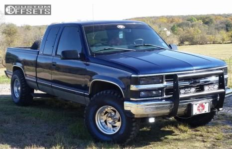 "1998 Chevrolet K1500 - 15x8.5 -12mm - American Racing 26 - Stock Suspension - 33"" x 12.5"""