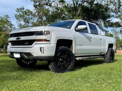 "2016 Chevrolet Silverado 1500 - 20x10 -18mm - Moto Metal Mo802 - Suspension Lift 3"" - 33"" x 12.5"""
