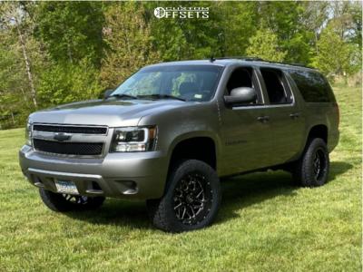 "2007 Chevrolet Suburban 1500 - 20x10 -19mm - Hostile Sprocket H108 - Suspension Lift 3.5"" - 33"" x 12.5"""