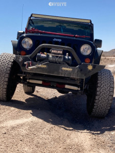 "2013 Jeep Wrangler JK - 17x10 -24mm - Fuel Maverick - Suspension Lift 3.5"" - 35"" x 12.5"""