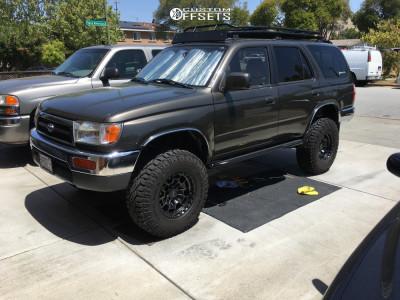 "1998 Toyota 4Runner - 16x8 0mm - KMC Km718 - Suspension Lift 3"" - 265/75R16"