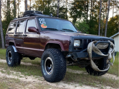 """2000 Jeep Cherokee - 15x10 -44mm - Ion Alloy 174 - Suspension Lift 3"""" - 33"""" x 12.5"""""""