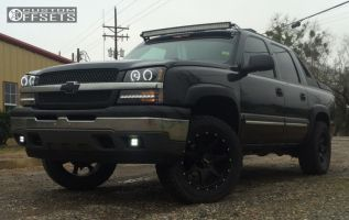 2005 Chevrolet Avalanche - 20x9 0mm - Gear Off-Road Smoke - Leveling Kit - 305/50R20
