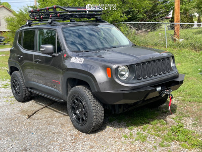 """2016 Jeep Renegade - 17x8 35mm - Gear Off-Road Sector-c - Suspension Lift 2.5"""" - 235/65R17"""