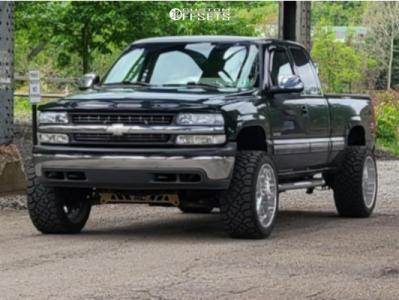 "2001 Chevrolet Silverado 1500 - 22x12 -40mm - American Force Trax Ss - Suspension Lift 4"" - 33"" x 12.5"""