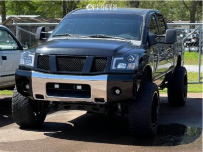 "2006 Nissan Titan - 22x12 -44mm - TIS 548bm - Suspension Lift 7.5"" - 35"" x 12.5"""