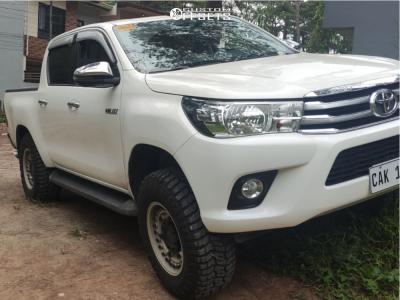 """2017 Toyota Hilux - 17x9.5 -6mm - Black Rhino Armory - Suspension Lift 2.5"""" - 33"""" x 12.5"""""""