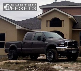 """2002 Ford F-250 - 20x14 -76mm - Fuel Hostage - Suspension Lift 4"""" - 33"""" x 12.5"""""""