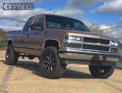 "1996 Chevrolet C1500 - 20x9 1mm - Fuel Throttle - Suspension Lift 4"" - 33"" x 12.5"""