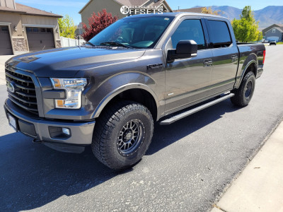 2016 Ford F-150 - 17x8.5 6mm - Icon Alloys Alpha - Leveling Kit - 295/70R17