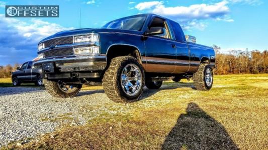 "1996 Chevrolet K1500 - 20x12 -44mm - Fuel Octane - Body Lift 3"" - 33"" x 12.5"""