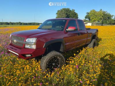 """2004 Chevrolet Silverado 2500 HD - 22x12 -44mm - Tis 544bm - Suspension Lift 6"""" - 35"""" x 12.5"""""""
