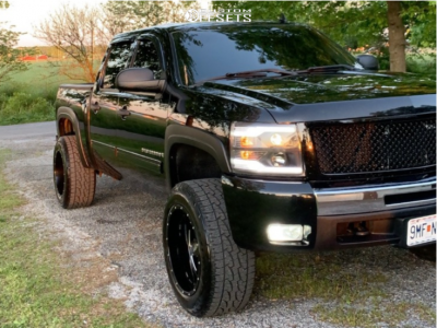"2009 Chevrolet Silverado 1500 - 20x12 -44mm - Moto Metal Mo962 - Leveling Kit - 33"" x 12.5"""