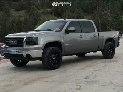 "2008 GMC Sierra 1500 - 20x10 -28mm - Ballistic Machete - Leveling Kit - 31"" x 11.5"""