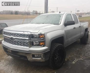 "2014 Chevrolet Silverado 1500 - 20x12 -44mm - XD XD820 - Leveling Kit - 33"" x 12.5"""