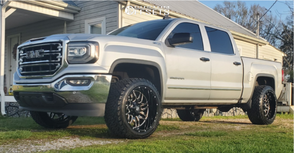 "2018 GMC Sierra 1500 - 22x12 -44mm - Pure Grit Drive - Leveling Kit - 33"" x 12.5"""